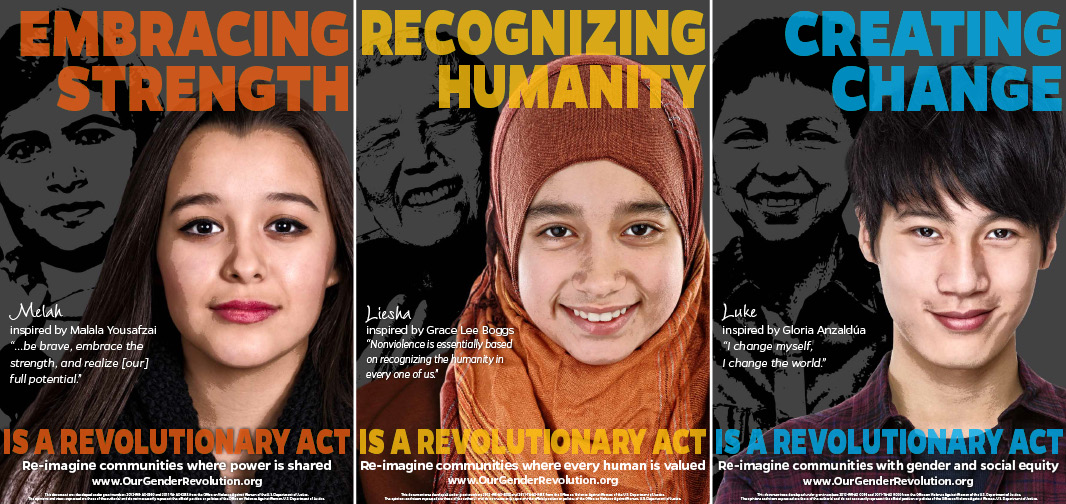 High School Posters: Embracing Strength, Recognizing Humanity, Creating Change