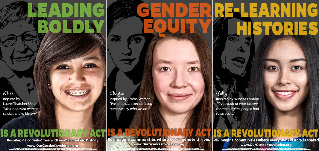 High School Posters: Leading Boldly, Gender Equity, Re-Learning Histories