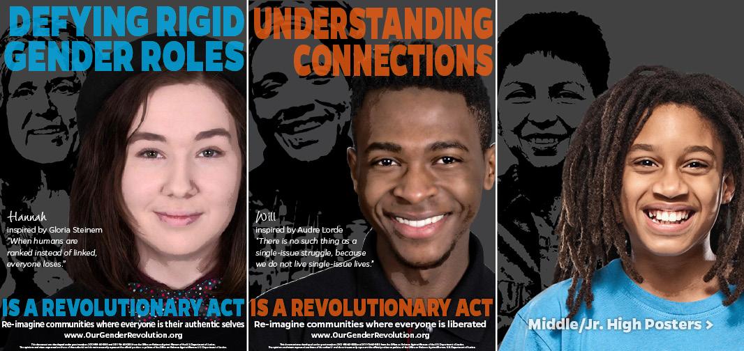 High School Posters: Defying Rigid Gender Roles, Understanding Connections
