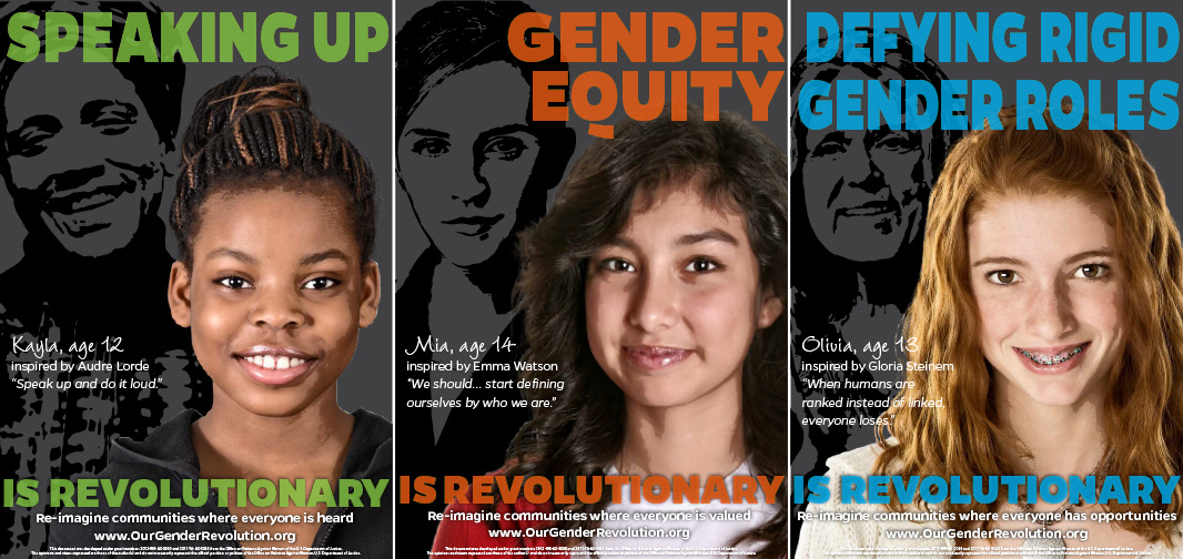 Middle School Posters: Speaking Up, Gender Equity, Defying Rigid Gender Roles