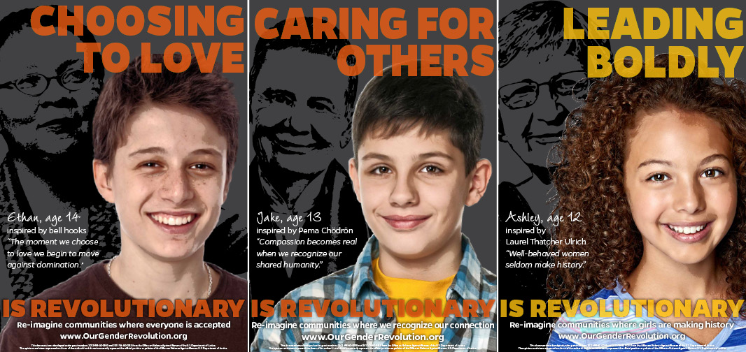 Middle School Posters: Choosing To Love, Caring For Others, Leading Boldly