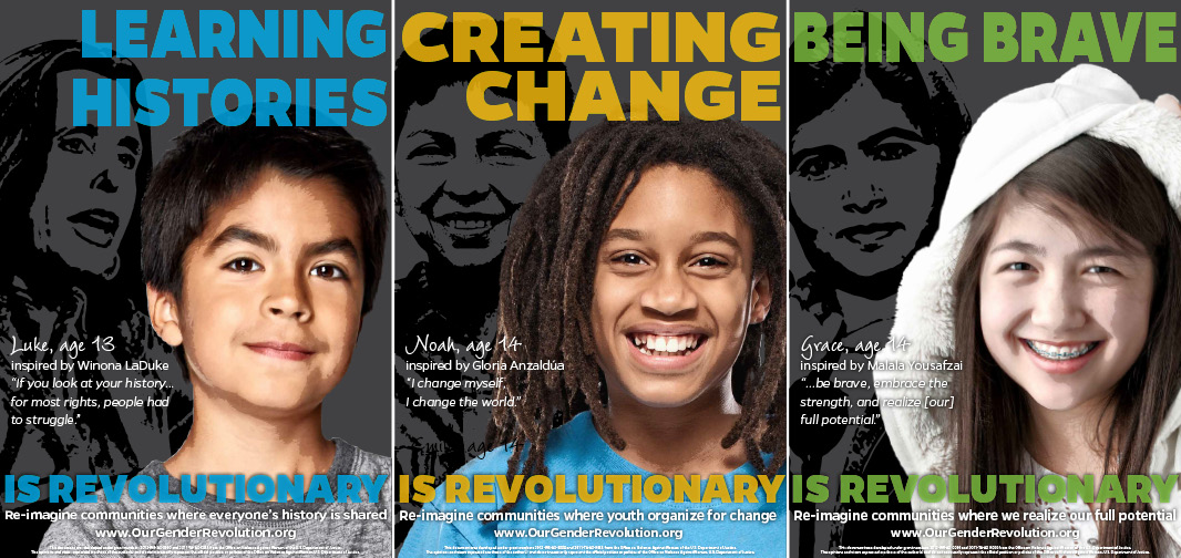 Middle School Posters: Learning Histories, Creating Change, Being Brave