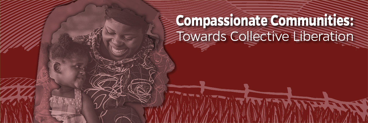 Red Website Slide for Compassionate Communities Collective Liberation